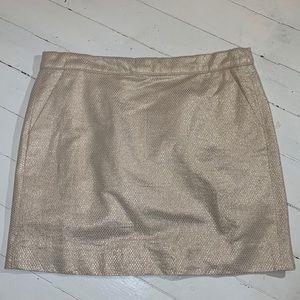 Cream and gold skirt